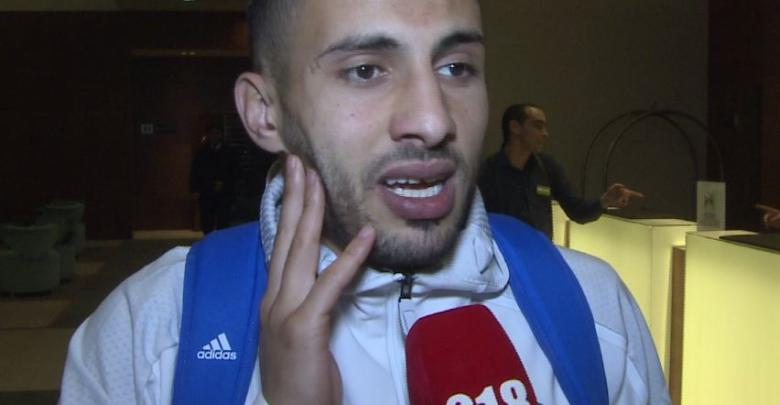 لاعب المنتخب الوطني محمد الترهوني