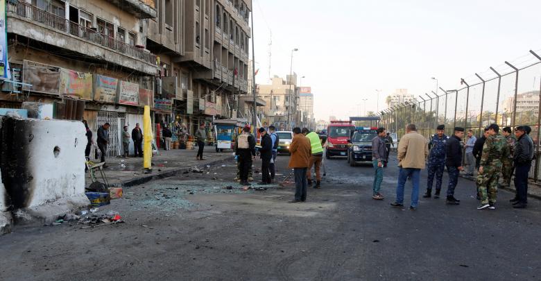 تفجير انتحاري بوسط بغداد