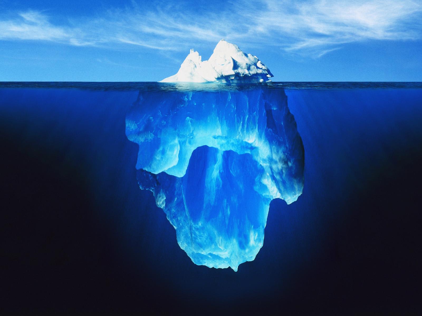 قمة جبل جليدي