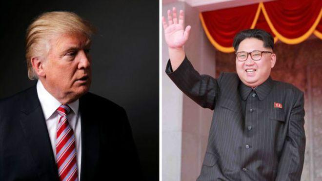 كيم يونغ و دونالد ترامب