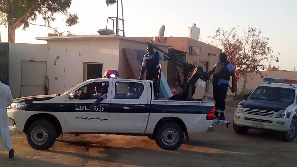 عناصر الأمن بمركز شرطة جالو