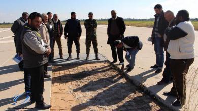 "Photo of ""المواصلات"" تُتابع مشروع تأهيل مطار طرابلس"