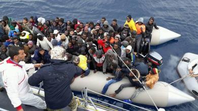 "Photo of البحرية الليبية تُنقذ عشرات المهاجرين قبالة ""بوكماش"""
