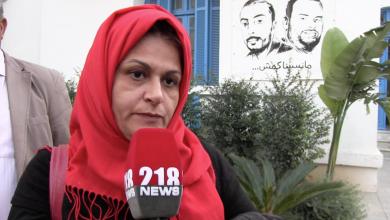 سانية رجب والدة الصحفي التونسي نذير القطاري