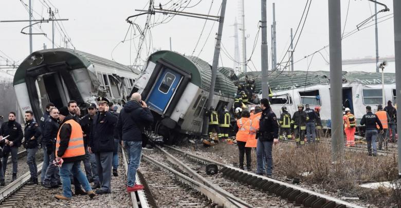 حادث قطار في إيطاليا