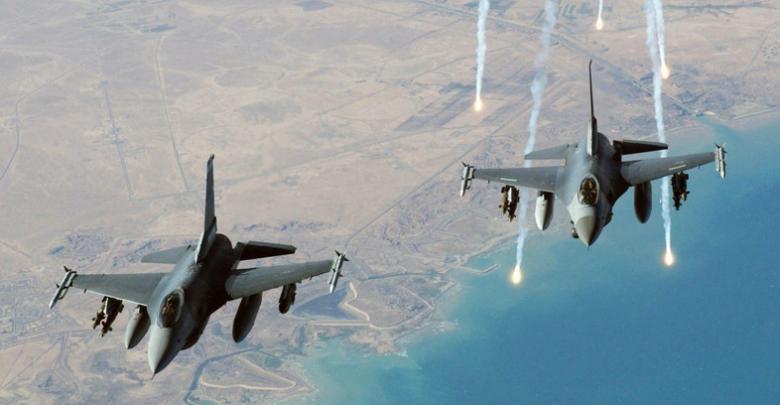 مقاتلات التحالف الدلولي ضد داعش