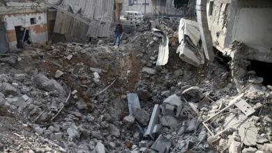 """صورة قصف سوري وروسي يوقع """"عشرات القتلى"""" بالغوطة"""
