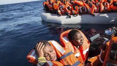 صورة إنقاذ أكثر من 100 مهاجر قبالة سواحل ليبيا