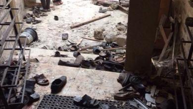 تفجير بمسجدسعد بن عبادة بمنطقة الماجوري ( تصوير إبراهيم التواتي)
