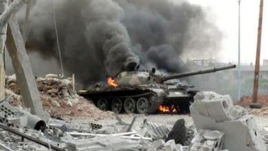 صورة انفجار دانة يودي بحياة جنديي صاعقة
