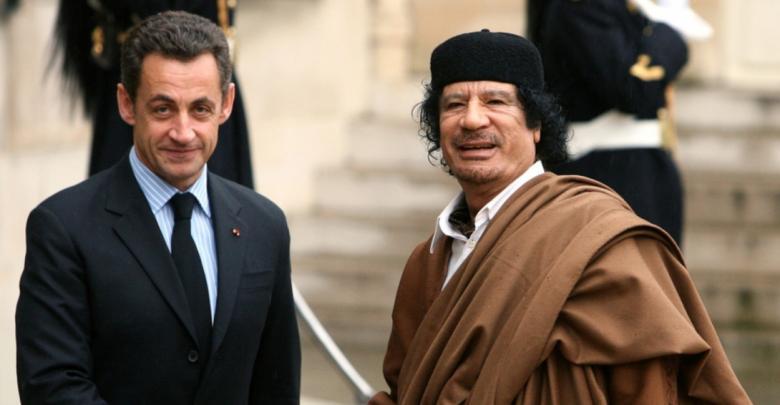 القذافي و ساركوزي