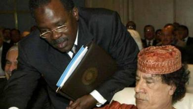 بشير صالح والقذافي