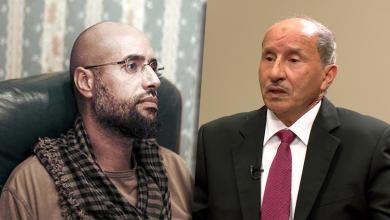 مصطفى عبد الجليل وسيف الإسلام القذافي