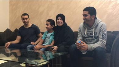 غزالة الصويعي وعائلتها