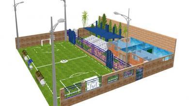 تطوير مرافق نادي العلمين وتعشيب أرضية الملعب الرئيسي