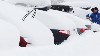 Photo of سماكة الثلوج تبلغ مترا باسكتلندا (صور)