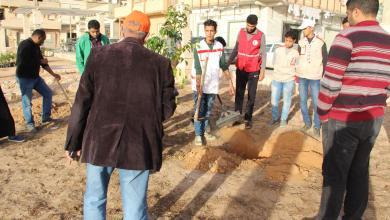 صورة حملة لإحياء حديقة القوس في طبرق