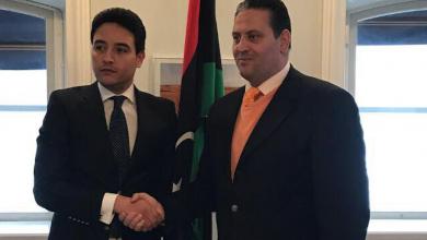 مراسم التسليم السفارة الليبية بمملكة السويد