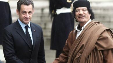 معمر القذافي ونيكولا ساركوزي