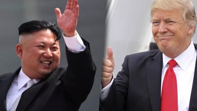 دونالد ترامب وكيم يونغ
