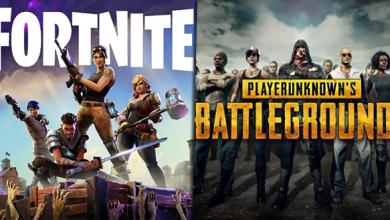 لعبتي Fortnite و PUBG