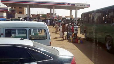 صورة أزمة وقود تخنق السودان