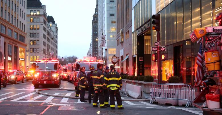 اندلاع النيران ببرج ترامب في نيويورك