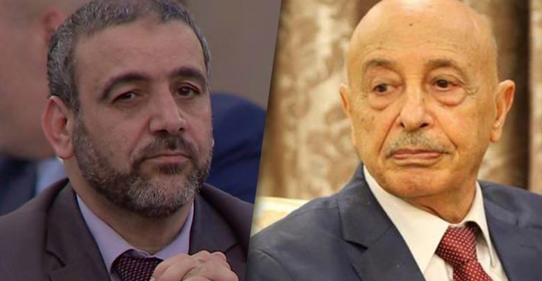 المستشارعقيلة صالحمعالرئيس خالد المشري