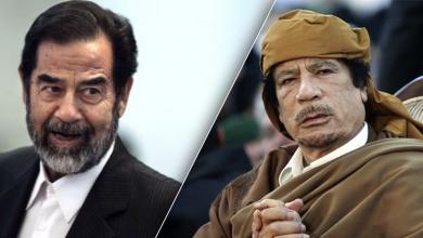 معمر القذافي وصدام حسين