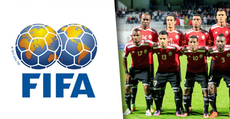 منتخب ليبيا لكرة القدم وشعار الفيفا