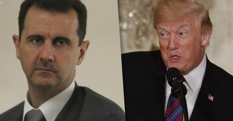 دونالد ترامب وبشار الأسد