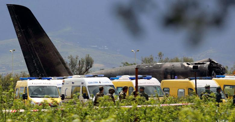 حطام الطائرة العسكرية الجزائرية