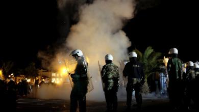 عناصر الشرطة اليونانية - جزيرة ليسبوس اليونانية