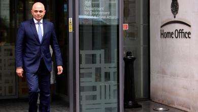 وزير الداخلية البريطاني ساجد جاويد