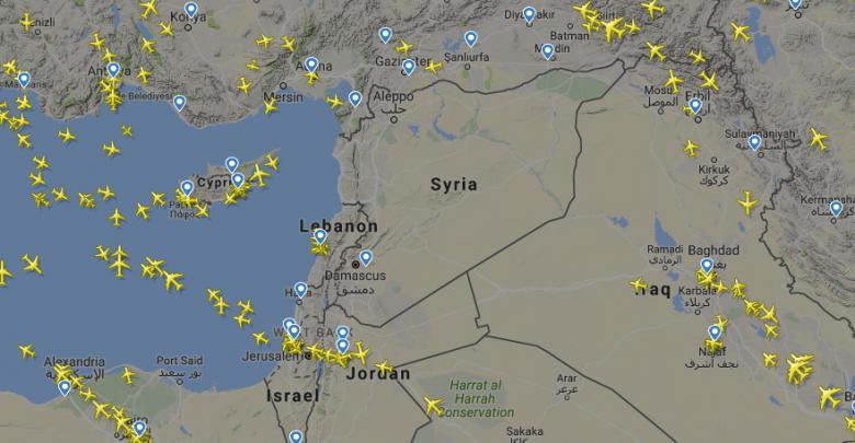 صورة لخرائط الجوية للطيران المدني حول العالم