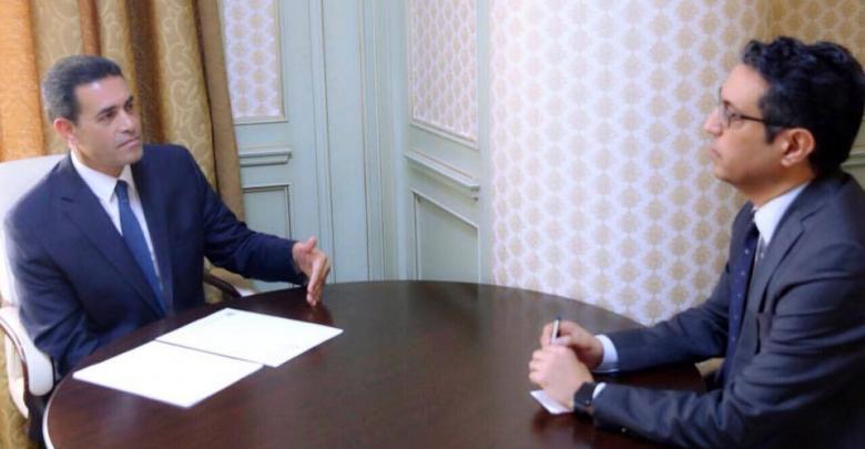 رئيس المفوضية العليا للانتخابات عماد السائح والمستشار السياسي لرئيس المجلس الرئاسي طاهر السني