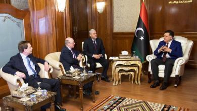 استقبالرئيس المجلس الرئاسي لحكومة الوفاق الوطني فائز السراج، للوزير البريطاني اليستر بيرت
