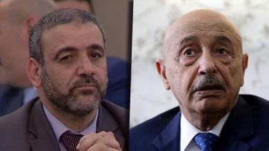 رئيس مجلس النواب المستشار عقيلة صالح ورئيس المجلس الأعلى للدولة خالد المشري