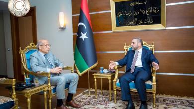 رئيس المجلس الأعلى للدولة خالد المشريو محافظ مصرف ليبيا المركزي الصديق الكبير