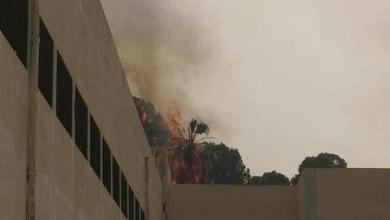 صور متدوالة عن نشوب حريق بمدرسة فتاة الثورة