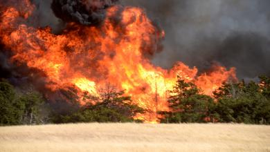 حرائق الغابات في أوكلاهوما