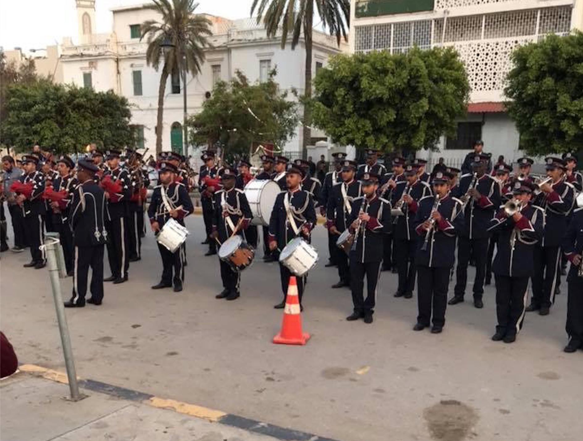 مراسم الافتتاح مسيرة راجلة لموكب إيقاد الشعلة بمدينة طرابلس