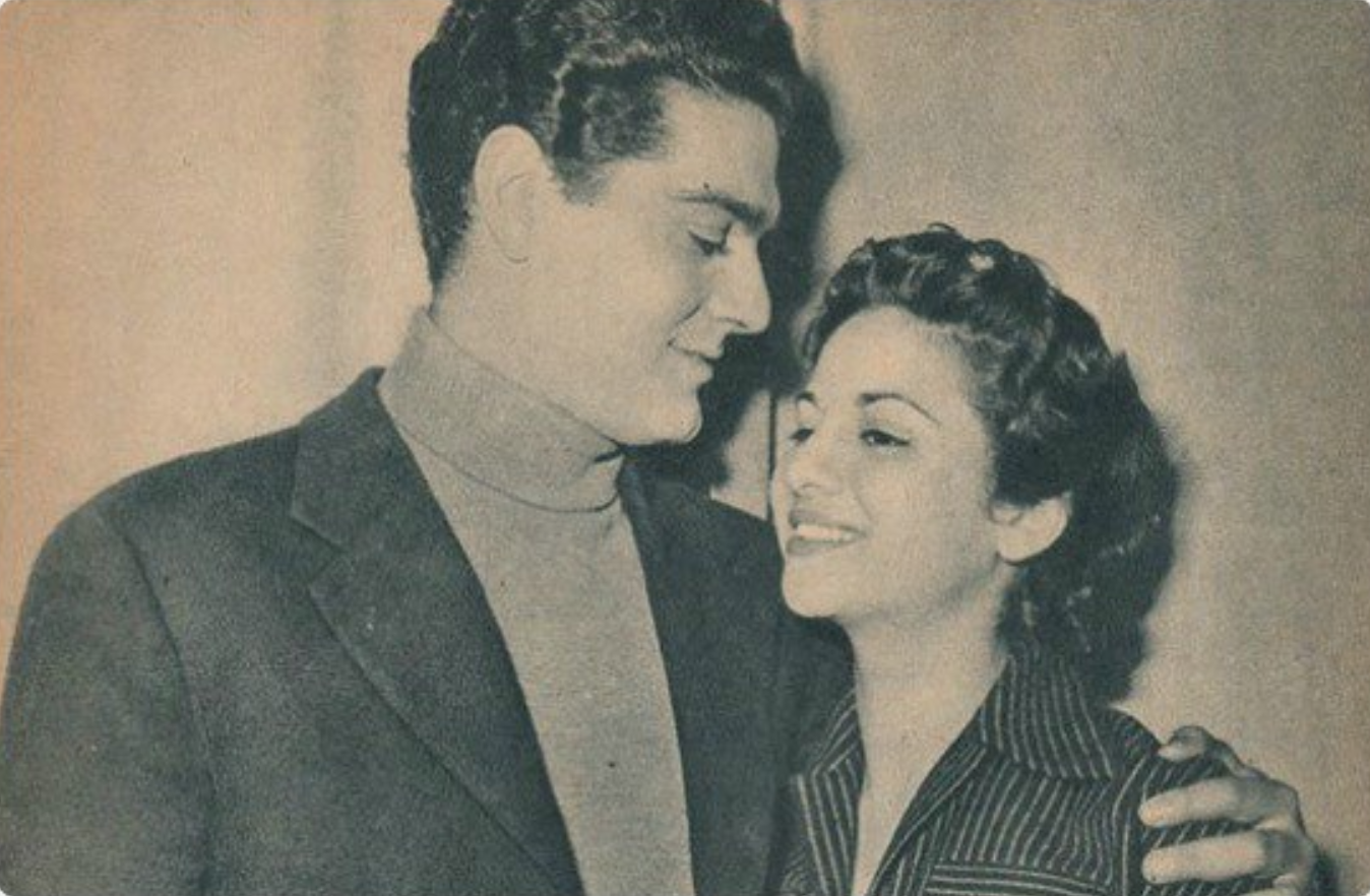 عمر الشريف و فاتن حمامة