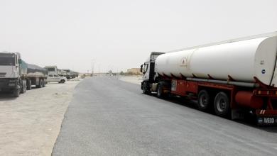 شاحنات نقل الوقود بمنطقة الجفرة