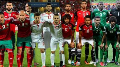 المنتخبات العربية المتأهلة لنهائيات المونديال