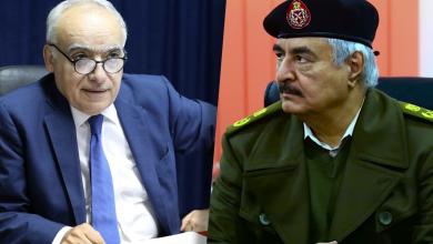 المشير خليفة حفتر والمبعوث الأممي غسان سلامة