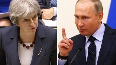 فلاديمير بوتين و تيريزا ماي
