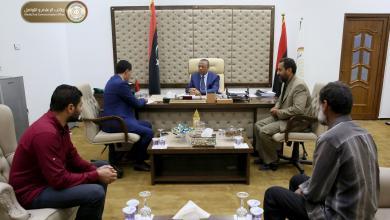 اجتماع عبدالله الثني مع عضو مجلس النواب المنتصر