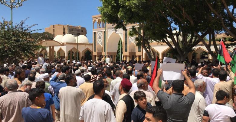 مظاهرات بمسجد الصحابة في مدينة درنة