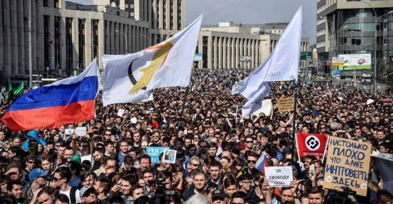 روسيا هتافات ضد بوتين بسبب تليغرام